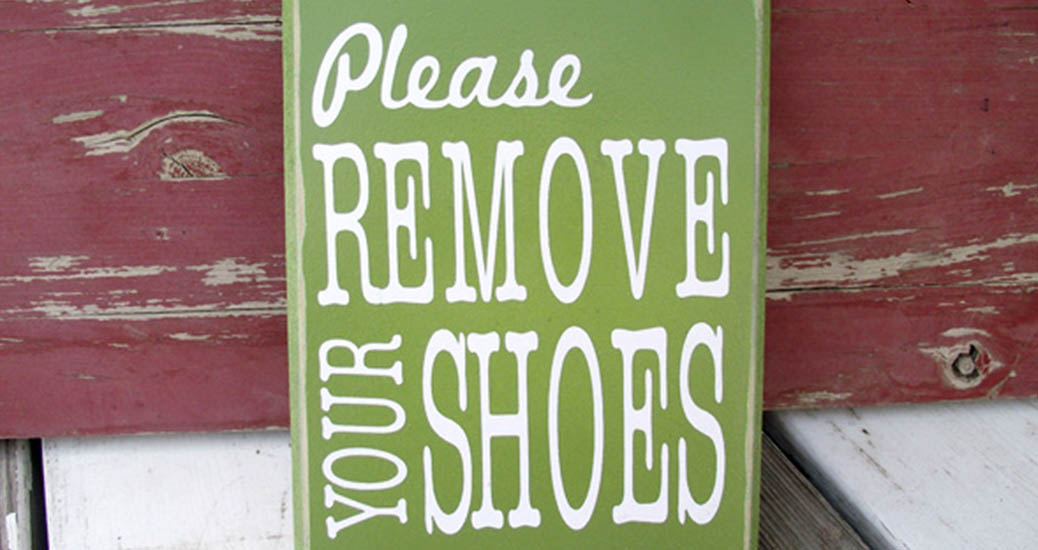 no shoes rule at home